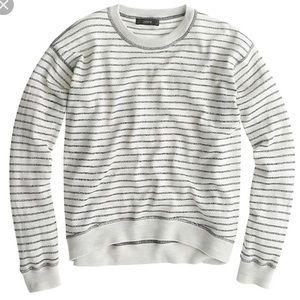J.Crew Merino Wool Metallic Stripe Sweater